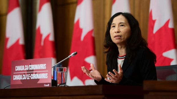 Chief Public Health Officer Dr. Theresa Tam provides an update on the COVID-19 pandemic in Ottawa on Tuesday, Dec. 15, 2020. THE CANADIAN PRESS/Sean Kilpatrick