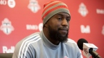 Toronto FC's Jozy Altidore speaks to the media during an end of season availability in Toronto on Wednesday, November 13, 2019. THE CANADIAN PRESS/Chris Young