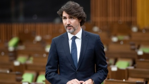 Prime Minister Justin Trudeau responds to a question during Question Period in the House of Commons Wednesday June 2, 2021 in Ottawa. THE CANADIAN PRESS/Adrian Wyld