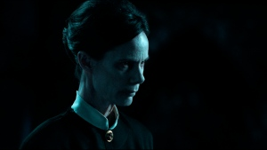 """This image released by Warner Bros. Entertainment shows Eugenie Bondurant in a scene from """"The Conjuring: The Devil Made Me Do It."""" Warner Bros. Entertainment via AP)"""