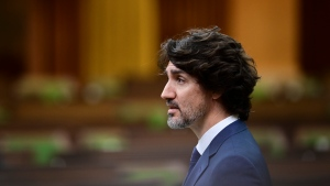 Prime Minister Justin Trudeau delivers a statement in the House of Commons on Parliament Hill in Ottawa on Tuesday, June 8, 2021, regarding the recent tragedy in London, Ontario. THE CANADIAN PRESS/Sean Kilpatrick
