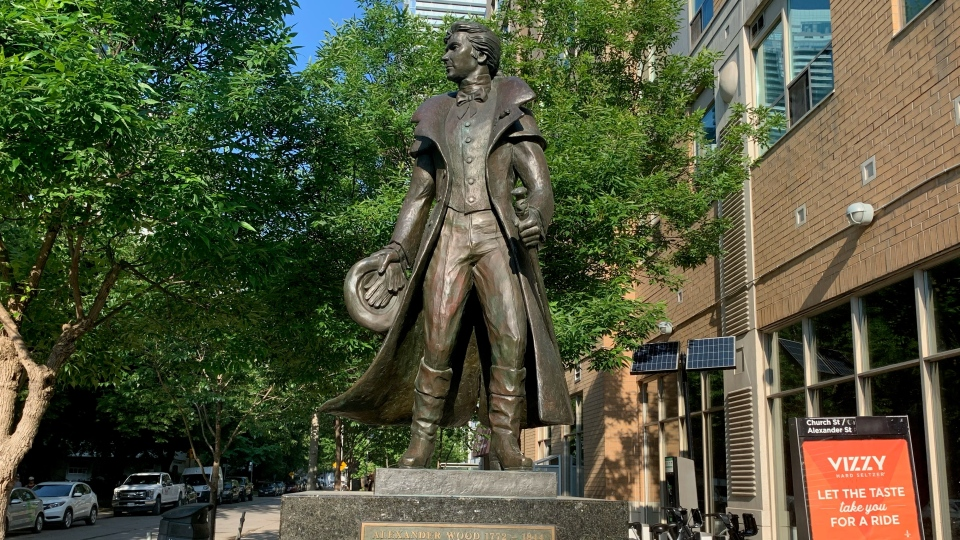 The Church-Wellesley BIA is calling for the removal of a statue of Alexander Wood. (Beatrice Vaisman)