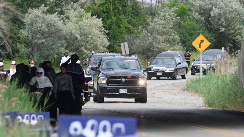 Funeral procession in London, Ont.