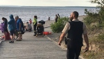 A 22-year-old man from Brampton has died following a drowning at Wasaga Beach on June 12, 2021 (David Sullivan/CTV News Barrie)