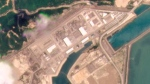 This satellite photo provided by Planet Labs Inc. shows the Taishan Nuclear Power Plant in Guangdong province, China on May 8, 2021. The Chinese nuclear power plant near Hong Kong had five broken fuel rods in a reactor but no radioactivity leaked, the government said Wednesday, June 16, 2021, in its first confirmation of the incident that prompted concern over the facility's safety. (Planet Labs Inc. via AP)