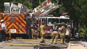 A man is dead following a house fire in Vaughan on Wednesday afternoon.