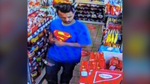 27-year-old Simranjeet Singh Sidhu is seen in this undated security camera photo. (Supplied/Peel Regional Police)