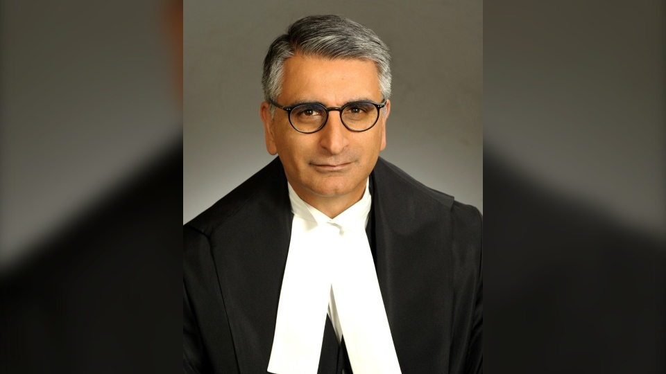 """Ontario Court of Appeal Justice Mahmud Jamal is seen in an undated handout photo. Jamal, the judge poised to be the first person of colour on the Supreme Court of Canada, says he experienced discrimination """"as a fact of daily life"""" while growing up. THE CANADIAN PRESS/HO-Office of the Commissioner Federal Judicial Affairs Canada, Judicial Appointments Secretariat, *MANDATORY CREDIT*"""
