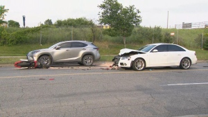 Toronto police are investigating a collision in North York that sent one person to hospital.