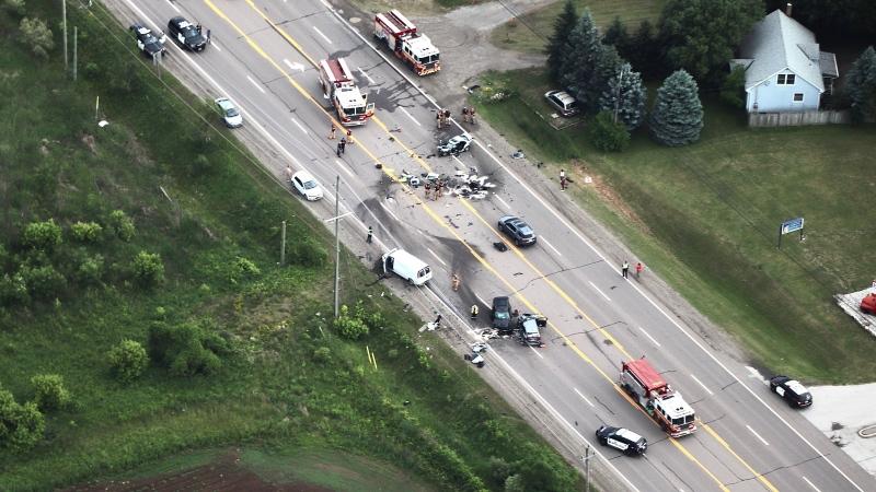 Police are investigating a serious collision in Hamilton.