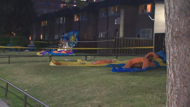 A shooting happened at a child's birthday party in Etobicoke that sent four people to hospital, including three children.