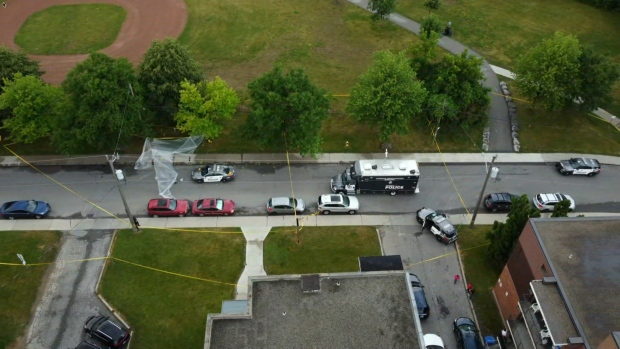 Toronto police are investigating the second gun homicide on Clearview Heights in the span of eight days.