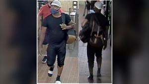 Police are searching for a suspect who allegedly assaulted a drug store employee for enforcing masking rules.