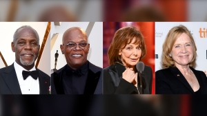 This combination of photos shows Danny Glover, from left, Samuel L. Jackson, Elaine May and Liv Ullmann who will be honored at the 12th Governors Awards in January. The Academy Awards will present May, Jackson and Ullmann with honorary Oscars and Glover with the Jean Hersholt Humanitarian Award. (AP Photo)