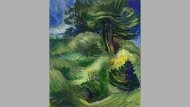 """Emily Carr's 1939 forest scene, """"Tossed by the Wind,"""" is shown in this handout image. A couple of major canvases by Emily Carr are among the prized pieces set to lead a Toronto auction house's spring sale. The Heffel Fine Art Auction House will take bids on the two paintings from Carr's mature period at a virtual live auction on Wednesday night. THE CANADIAN PRESS/HO-Heffel Fine Art Auction House-Ward Bastian"""