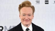 """File-This May 15, 2019, file photo shows talk show host Conan O'Brien attending the WarnerMedia Upfront at Madison Square Garden in New York. O'Brien ended his nearly 11-year run on TBS, Thursday, June 24, 2021, with the final episode of the late-night show """"Conan."""" (Photo by Evan Agostini/Invision/AP, File)"""