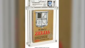 An unopened copy of Nintendo's The Legend of Zelda that was made in 1987 has sold at auction for $870,000.