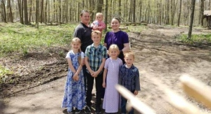 Jake and Tina Hiebert and their children are seen in this undated family photo. (Source: GoFundMe)