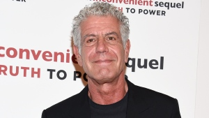 """FILE - In this Monday, July 17, 2017, file photo, television personality Anthony Bourdain attends a special screening of """"An Inconvenient Sequel: Truth To Power"""" at The Whitby Hotel in New York. The revelation that a documentary filmmaker used voice-cloning software to make the late chef Bourdain say words he never spoke has drawn criticism amid ethical concerns about use of the powerful technology. (Photo by Evan Agostini/Invision/AP, File)"""