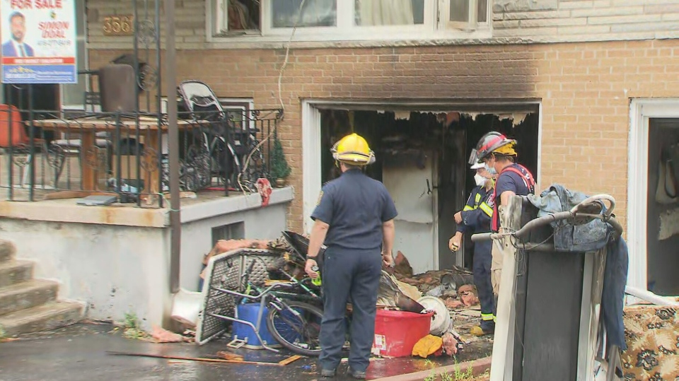Seven people are in hospital after a fire broke out at a home in Mississauga Saturday morning.