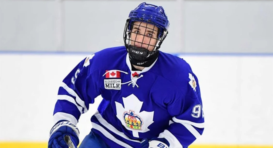 London Knights defenceman Logan Mailloux plays for the Toronto Marlboros. (Source: Dan Hickling / OHL images)