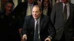 FILE - In this Feb. 24, 2020 file photo, Harvey Weinstein arrives at a Manhattan courthouse for jury deliberations in his rape trial in New York. New York prison officials have handed over Weinstein for transport to California to face sexual assault charges. The New York State Department of Corrections and Community Supervision says the transfer happened about 9:25 a.m. Tuesday, July 20, 2021. (AP Photo/Seth Wenig, File)