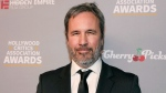 FILE - In this Jan. 9, 2020 file photo, Denis Villeneuve attends the Hollywood Critics' Awards at the Taglyan Complex, in Los Angeles. Villeneuve and Alanis Obomsawin are among those being honored at the Toronto International Film Festival in September. TIFF co-heads Joana Vicente and Cameron Bailey said Thursday, July 22, 2021, that Villeneuve will receive the TIFF Ebert Director Award at the 2021 TIFF Tribute Awards. (Photo by Mark Von Holden/Invision/AP)