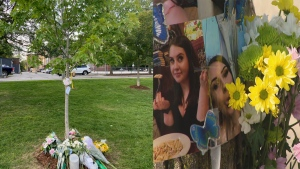 The Danforth community marked the third anniversary of the 2018 mass shooting that killed two people and injured 13 others. (CP24/Bakari Savage)