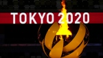 The Olympic flame burns during the opening ceremony in the Olympic Stadium at the 2020 Summer Olympics, Friday, July 23, 2021, in Tokyo, Japan. (AP Photo/Kirsty Wigglesworth)