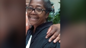 Claudette James, 63, is seen in this undated photo. James was found dead at a residence in North York on Friday, July 23, 2021. (Toronto Police Service)
