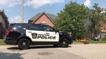 Halton police are investigating after a child was pulled from a swimming pool in Burlington. (CP24/Simon Sheehan)