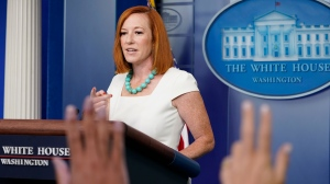 White House press secretary Jen Psaki speaks during the daily briefing at the White House in Washington, Monday, July 26, 2021. (AP Photo/Susan Walsh)