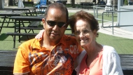 Alan Preddie can be seen in this photo with his late mother. He is trying to get to Trinidad to hep bury his mother, but is unable to because his Pfizer-Moderna vaccine mix is not accepted in the island country. (Handout)