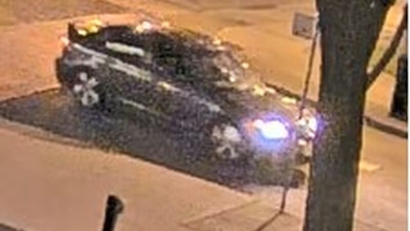 Police say this vehicle was used by five suspects to flee the area after a stabbing and a robbery in downtown Toronto on July 6, 2021. (Toronto Police Service)