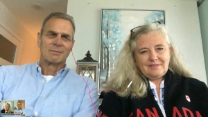 Alison and Richard Oleksiak chat with CP24 Thursday July 29, 2021.