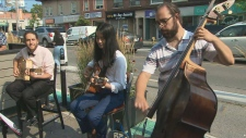 Live music on patios
