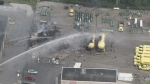 Firefighters are on the scene of a fire at Superior Propane in Barrie. (Chopper 24)