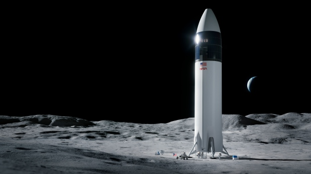 SpaceX moon lander