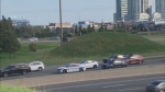 Police are investigating a serious collision on Highway 403 in Mississauga.