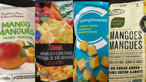 The Canadian Food Inspection Agency has issued a recall for certain brands of frozen mangoes due to possible hepatitis A contamination. SOURCE: CFIA