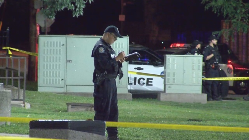 A 12-year-old was injured in a shooting near Jane Street and Falstaff Avenue.
