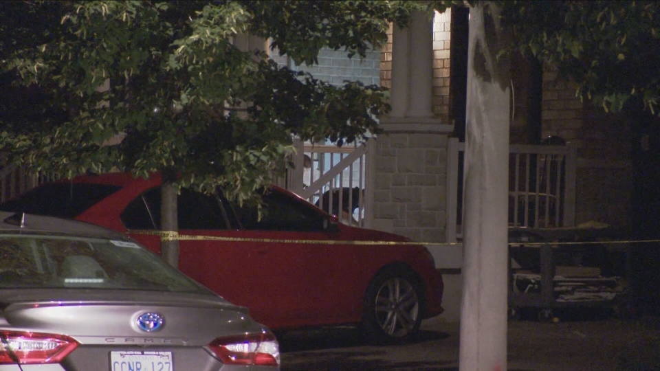 One male was injured following a shooting in Vaughan early Saturday morning.