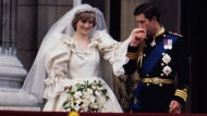 A slice of cake from Prince Charles and Princess Diana's 1981 wedding is going up for auction. (Terry Fincher/Princess Diana Archive/Getty Images via CNN)