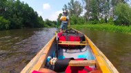 An Ontario couple is canoeing from Georgetown to Perth towards their new home.