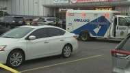 Police are investigating after a child was struck and killed by a vehicle in a parking lot in Scarborough.
