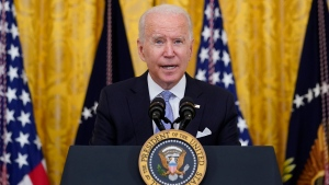 FILE - President Joe Biden speaks from the East Room of the White House in Washington, Thursday, July 29, 2021. (AP Photo/Susan Walsh, File)