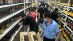 Residents rush to stock up on necessities at a supermarket after authorities lockdown near residential blocks to prevent the spread of the COVID-19 in Wuhan city in central China's Hubei province Monday, Aug. 2, 2021. Chinese authorities announced Tuesday the mass testing of Wuhan as an unusually wide series of COVID-19 outbreaks reached the city where the disease was first detected in late 2019. (Chinatopix via AP)