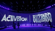 This June 13, 2013 file photo shows the Activision Blizzard Booth during the Electronic Entertainment Expo in Los Angeles. The president of Activision's Blizzard Entertainment is stepping down, Tuesday, Aug. 3, 2021, weeks after the company was hit with a discrimination and sexual harassment lawsuit in California as well as backlash from employees over the work environment. (AP Photo/Jae C. Hong, File)