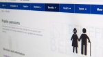 Government of Canada public pensions web page is shown on Tuesday, January 9, 2018. Low-income seniors will no longer have to apply for an income top-up under a newly-launched program to automatically sign them up for the benefit payments. As of now, seniors who automatically enrolled for old age security benefits will also be automatically considered for the guaranteed income supplement based on their tax filings.THE CANADIAN PRESS