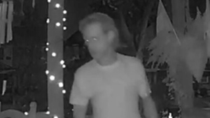A suspect in an indecent act investigation in Parkdale is shown in this surveillance camera image. (Toronto Police Service)